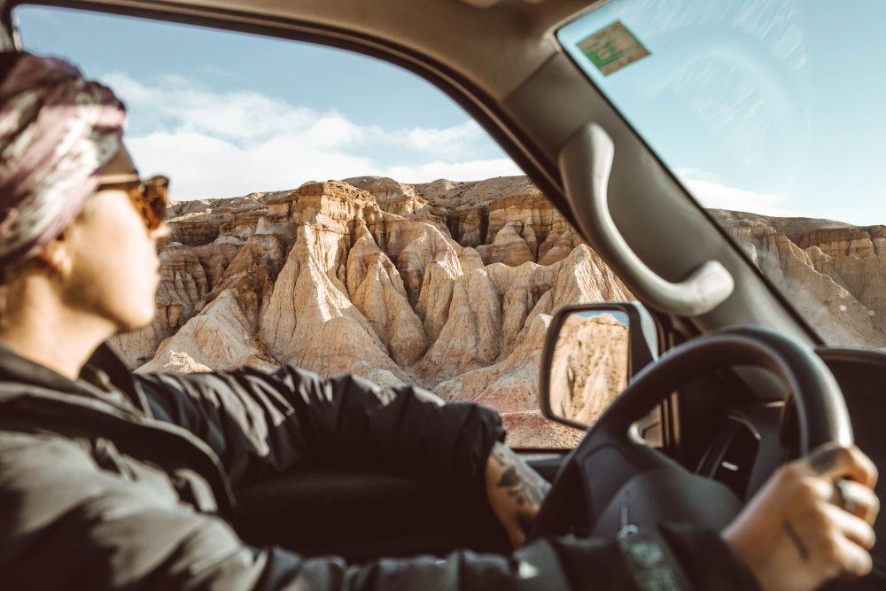 White Stupa Gobi Desert Mongolia (Breanna Driving)