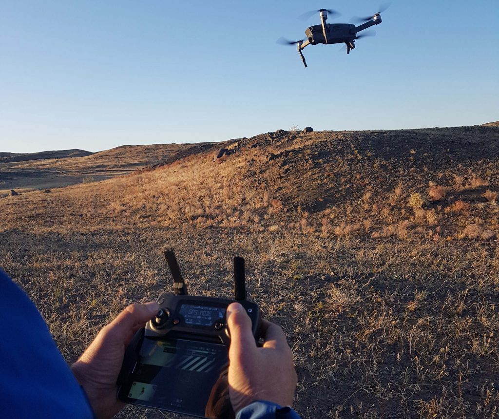 Drone searching water
