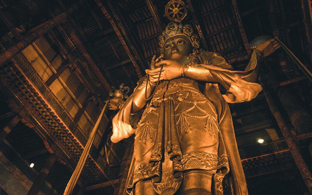 Ulaanbaatar Tour Gangdam Monastery talles indoor Buddah Statue in the World