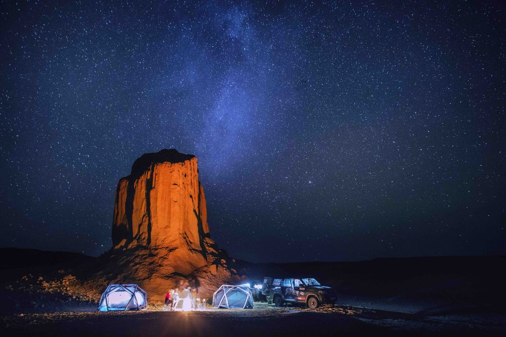 Liqui Moly Extreme Mongolia 4x4 jeep roadtrip travel journey camping at Flaming Cliffs Bayanzac
