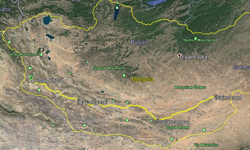 Newall Gobi Route Map