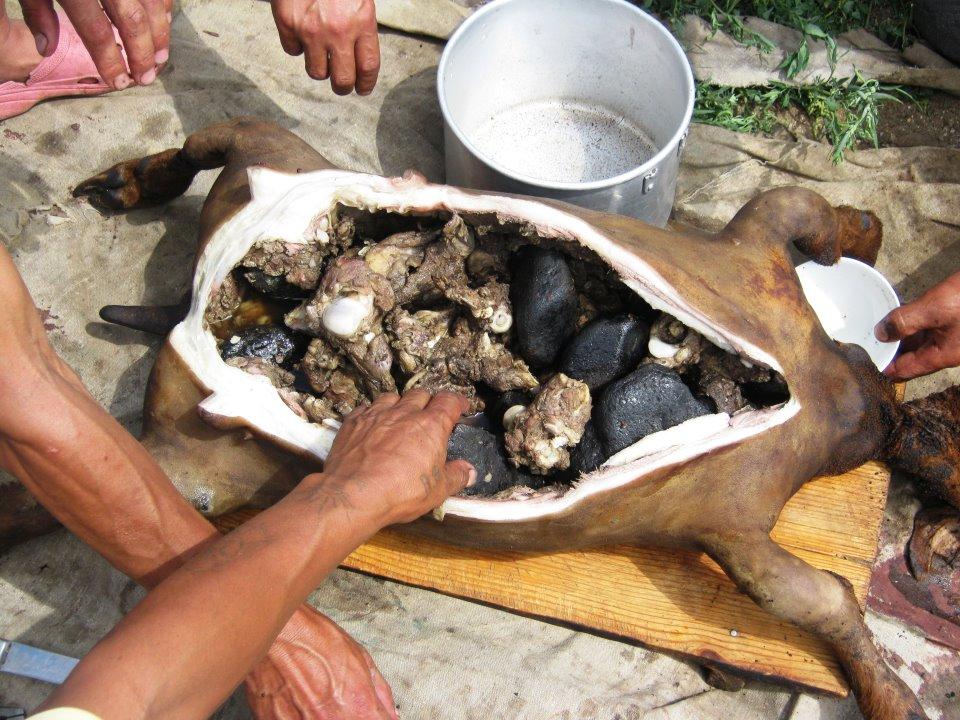 Boodog mongolische Gerichte