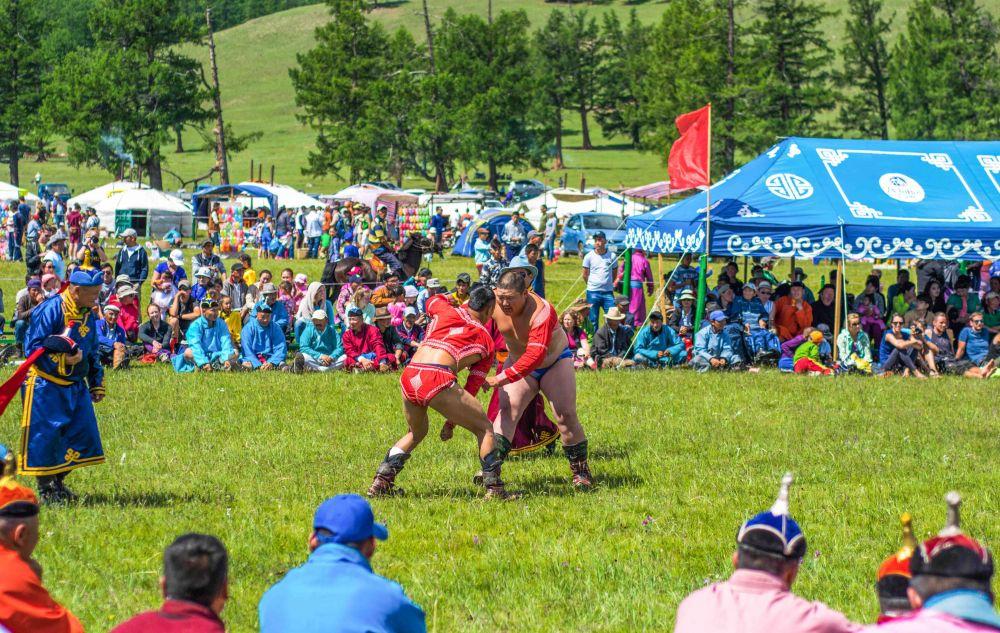 Naadam Festival Wrestling Mongolia