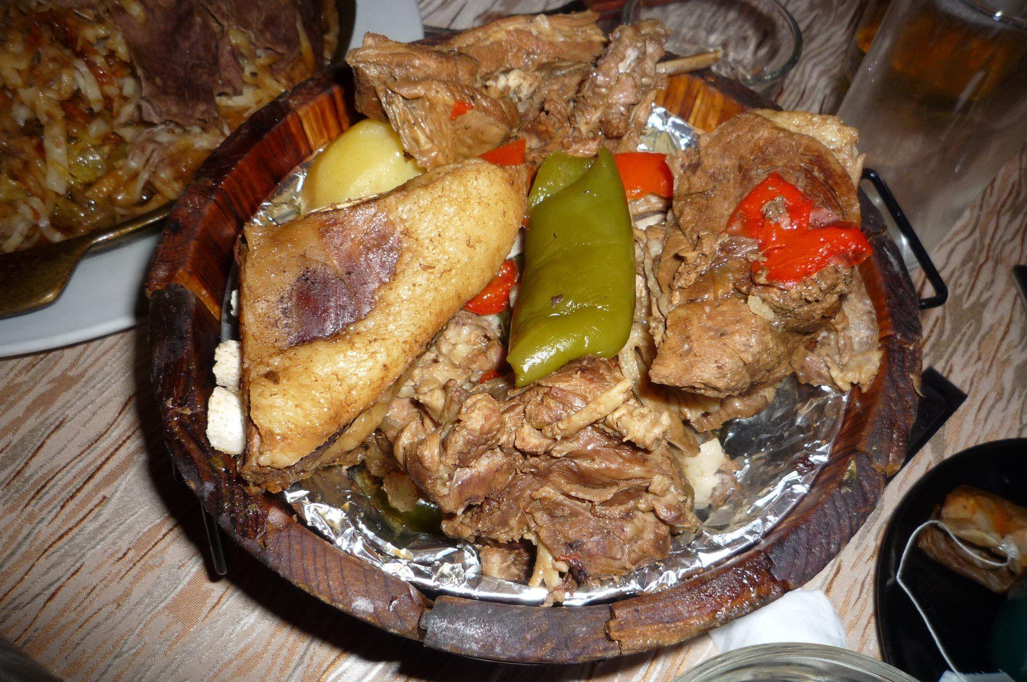 Khorkhog mongolische Gerichte